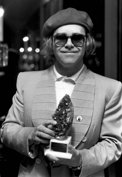 Elton John Photograph - Elton Collects by Evening Standard