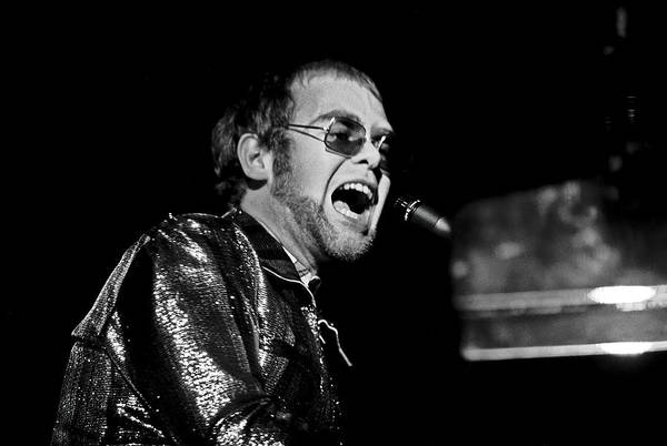 Wall Art - Photograph - Elton John At Piano C. 1975 by Daniel Hagerman