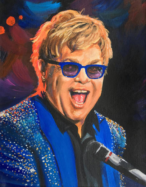 Wall Art - Painting - Elton John by Robert Korhonen
