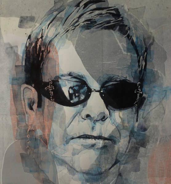 Wall Art - Mixed Media - Elton John  Rocket Man  by Paul Lovering