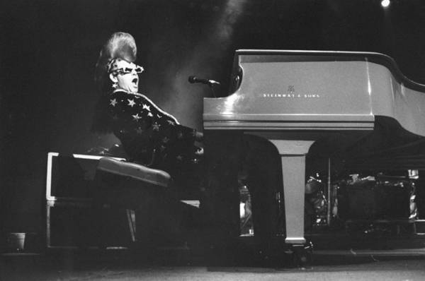 Madison Square Garden Photograph - Elton John Sings At A Concert At by New York Daily News Archive