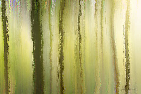 Mixed Media - elven forest I by John Emmett