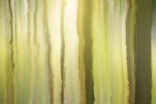 Mixed Media - elven forest II by John Emmett