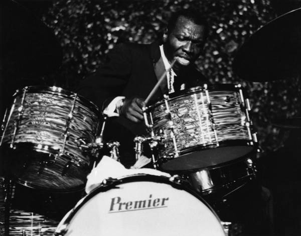 Drum Photograph - Elvin Jones On Drums by David Redfern