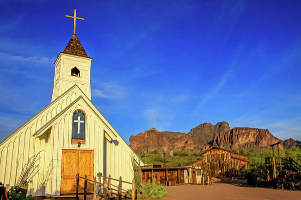 Elvis Chapel At Apacheland, Superstition Mountains Art Print