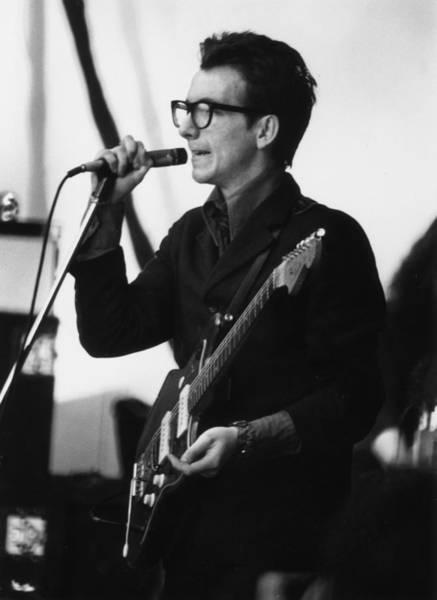 Photograph - Elvis Costello by Gary Merrin