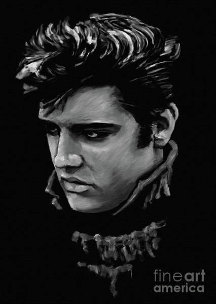 Wall Art - Painting - Elvis Presley 6671 by Gull G