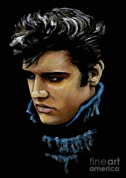 Wall Art - Painting - Elvis Presley 8872 by Gull G