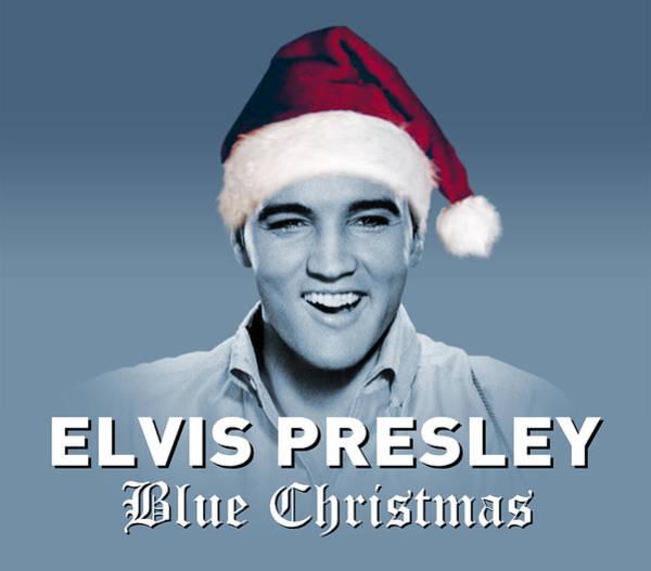 Wooden Shoe Digital Art - Elvis Presley Blue Christmas by David Richardson