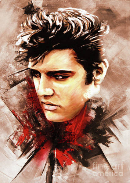 Wall Art - Painting - Elvis Presley Celebrity 01 by Gull G