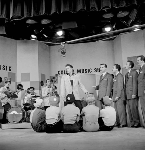 Burbank Photograph - Elvis Presley On The Milton Berle Show by Michael Ochs Archives