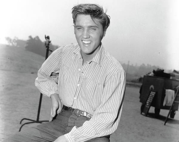 Photograph - Elvis Presley On The Set Of His Film by Michael Ochs Archives