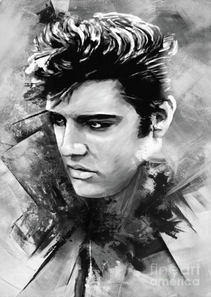 Wall Art - Painting - Elvis Presley Painting Art 45  by Gull G