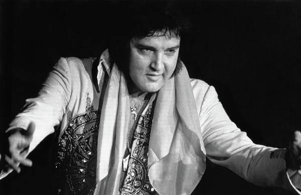 Photograph - Elvis Presley Performing by Bettmann
