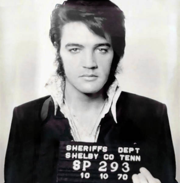 Wall Art - Photograph - Elvis Presley Shelby County Mugshot 1970 by Daniel Hagerman