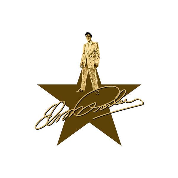 Wooden Shoe Digital Art - Elvis Presley - Signature by David Richardson