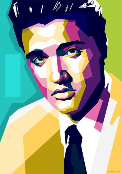 Wall Art - Digital Art - Elvis Presley by Stars on Art