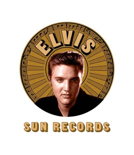 Wooden Shoe Digital Art - Elvis Presley - Sun Records by David Richardson