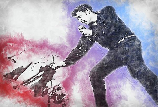 Painting - Elvis Presley, The Boy From Tupelo - 14 by Andrea Mazzocchetti