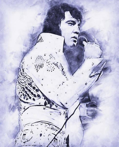 Painting - Elvis Presley, The Boy From Tupelo - 15 by Andrea Mazzocchetti