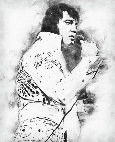 Painting - Elvis Presley, The Boy From Tupelo - 16 by Andrea Mazzocchetti