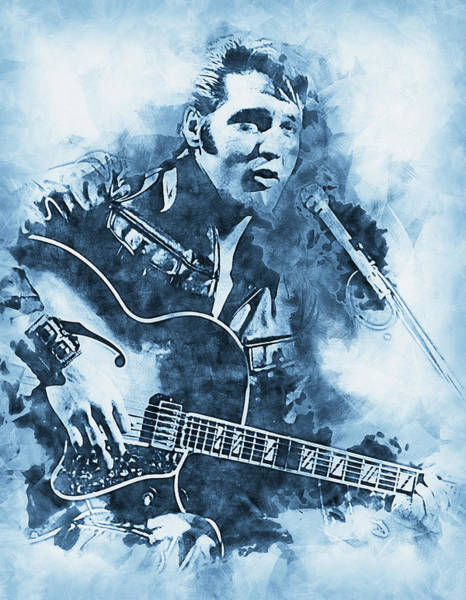 Painting - Elvis Presley, The Boy From Tupelo - 17 by Andrea Mazzocchetti