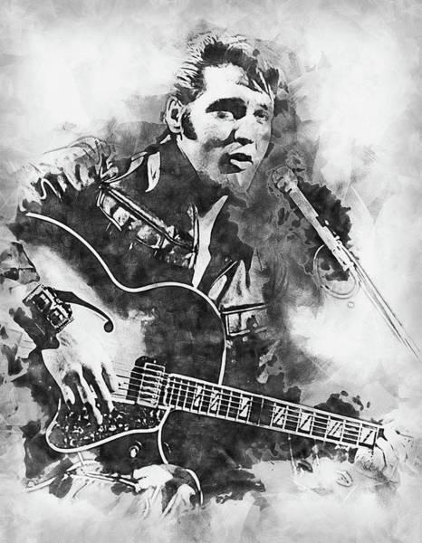 Painting - Elvis Presley, The Boy From Tupelo - 18 by Andrea Mazzocchetti