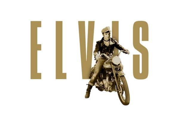 Wooden Shoe Digital Art - Elvis Presley  Triumph Motorcycle by David Richardson