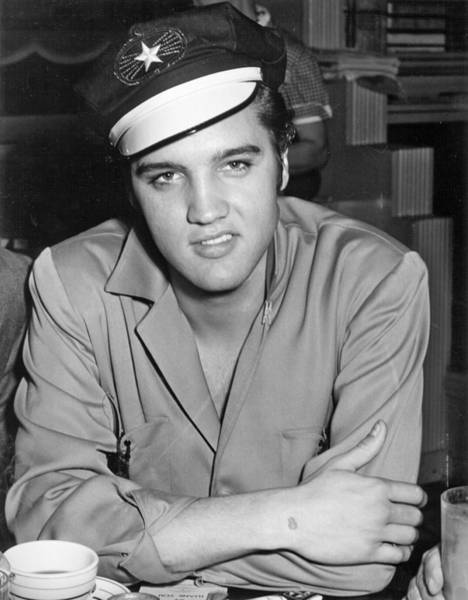 Photograph - Elvis Presley Wearing Motorcycle Hat by Michael Ochs Archives