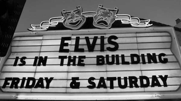 Wall Art - Photograph - Elvis Pressley Marquee by David Lee Thompson
