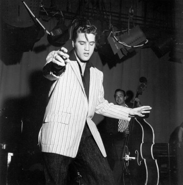 Burbank Photograph - Elvis Rehearsing For Milton Berle by Michael Ochs Archives