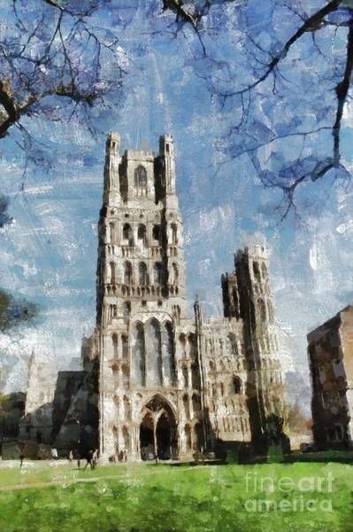 Ely Wall Art - Painting - Ely Cathedral by Mary Bassett