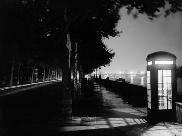 English Culture Photograph - Embankment At Night by Express