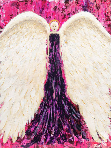 Wall Art - Painting - Embraced By An Angel by Rosie Kuhn