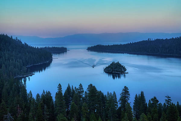 Photograph - Emerald Bay And Fannette Island At Sunset by Andy Konieczny