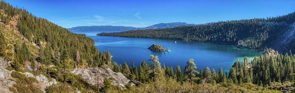 Photograph - Emerald Bay And Fannette Island Panorama by Andy Konieczny