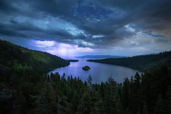 Photograph - Emerald Bay Electric Skies By Brad Scott by Brad Scott