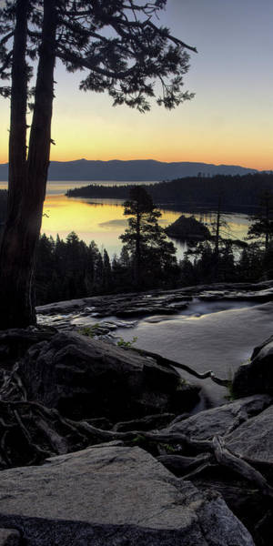 Wall Art - Photograph - Emerald Bay Lake Tahoe Vertical by Dave Dilli