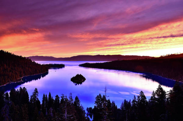 Lake Tahoe Photograph - Emerald Bay With Fannette Island At by Gary Ngo Photography