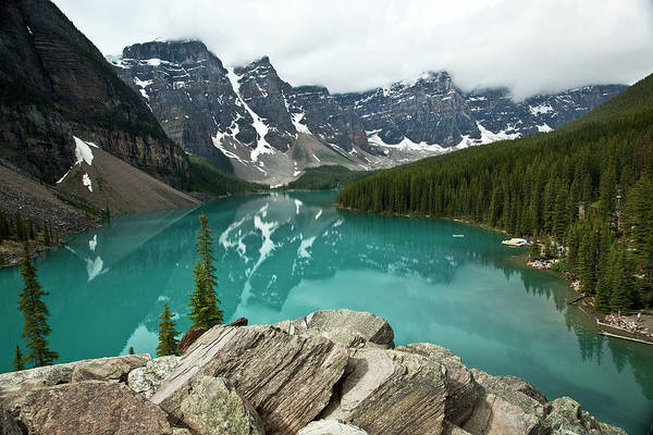 Moraine Lake Photograph - Emerald Dream by Jordanwhipps1987
