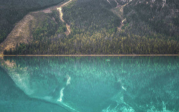British Columbia Photograph - Emerald Lake Boating by Chris Fletcher