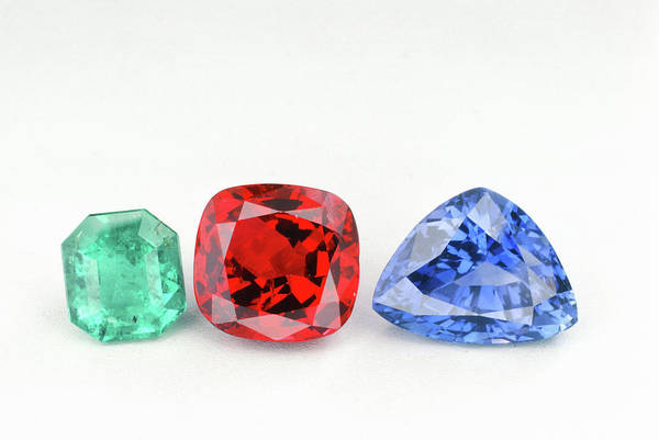 Wall Art - Photograph - Emerald, Ruby And Sapphire by Joel E. Arem