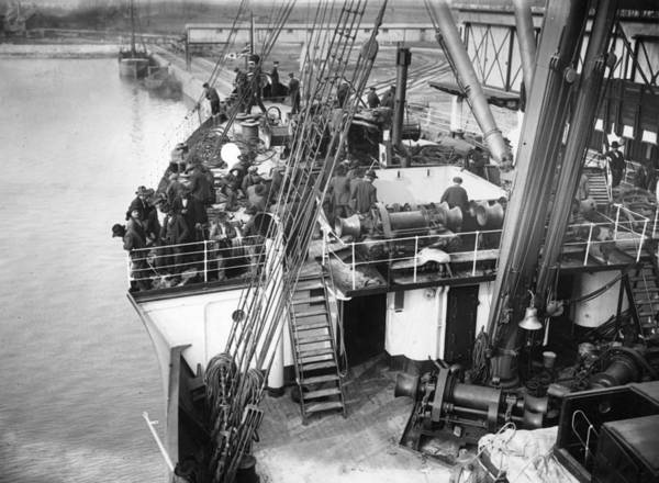 Reportage Photograph - Emigrant Ship by Topical Press Agency