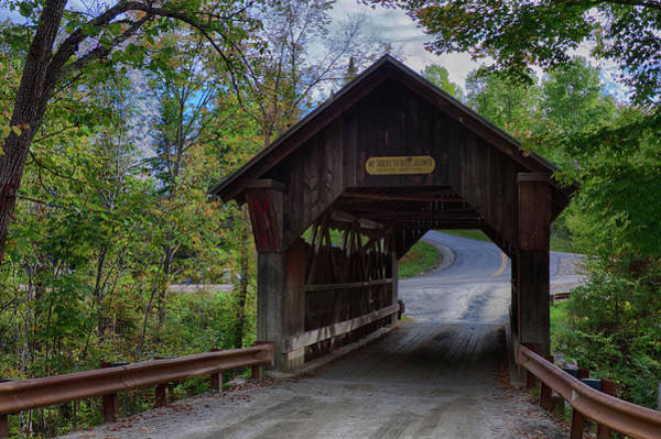Photograph - Emily's Covered Bridge In Stowe Vermont by Jeff Folger