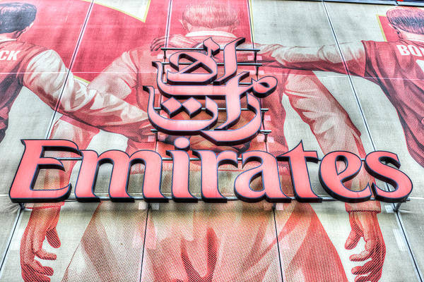 Wall Art - Photograph - Emirates Logo Emirates Stadium  by David Pyatt