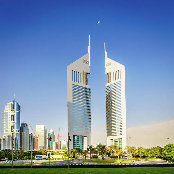 Wall Art - Photograph - Emirates Towers In Dubai by Alexey Stiop