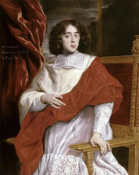 Painting - Emmanuel-theodose De La Tour D'auvergne, Cardinal De Bouillon by Giovanni Battista Gaulli