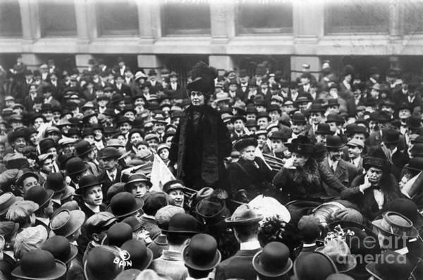 Photograph - Emmeline Pankhurst by Granger