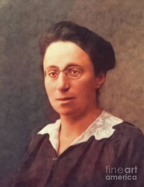 Physics Painting - Emmy Noether, Famous Mathamatician by John Springfield
