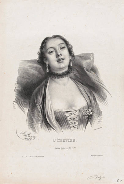 Drawing - Emotion by Charles-Louis Bazin